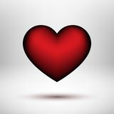 Corazón rojo del día de tarjetas del día de San Valentín Foto de archivo