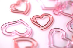 Corazón rojo del paperclip Foto de archivo libre de regalías