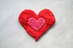 Corazón rojo del suelo Fotografía de archivo libre de regalías
