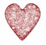 Corazón rojo del Web Imagen de archivo libre de regalías