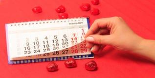 Corazón rojo e del día de tarjeta del día de San Valentín Imagen de archivo libre de regalías