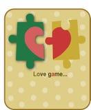 Corazón rojo en de dos piezas Imagen de archivo libre de regalías