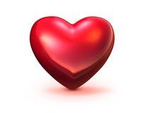 Corazón rojo en el fondo blanco Fotos de archivo