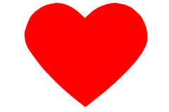 Corazón rojo en estilo plano de moda aislado imagen de archivo