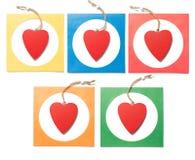 Corazón rojo en marco Fotos de archivo