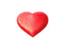 Corazón rojo en un fondo blanco Imagenes de archivo