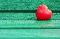 Corazón rojo en vintage Imagenes de archivo