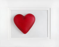 Corazón rojo enmarcado Fotografía de archivo libre de regalías
