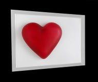 Corazón rojo enmarcado anguloso fotos de archivo