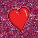 Corazón rojo grande fotos de archivo