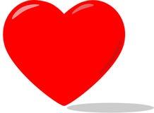 Corazón rojo grande stock de ilustración