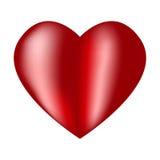 Corazón rojo grande con puntos culminantes Imagen de archivo libre de regalías