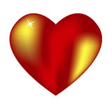 Corazón rojo grande con puntos culminantes Imagen de archivo