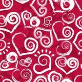 Corazón rojo inconsútil Imagenes de archivo