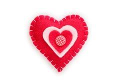 Corazón rojo juguete suave Fotografía de archivo libre de regalías