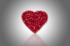 Corazón rojo mullido Imagen de archivo libre de regalías