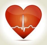 Corazón-rojo-normal-rhytm Imagenes de archivo