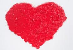 Corazón rojo pintado Foto de archivo libre de regalías