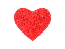 Corazón rojo roto Fotos de archivo libres de regalías