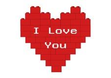 Corazón rojo te amo stock de ilustración