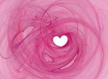 Corazón romántico Foto de archivo libre de regalías