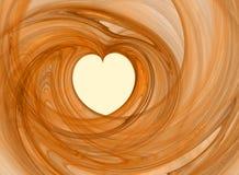 Corazón romántico abstracto Foto de archivo