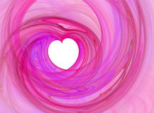 Corazón romántico rosado Fotos de archivo libres de regalías
