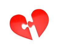 Corazón - rompecabezas Imagenes de archivo