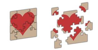 Corazón - rompecabezas Foto de archivo libre de regalías
