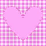 Corazón rosado Imagen de archivo libre de regalías