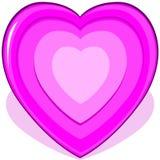 Corazón rosado stock de ilustración