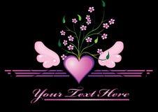 Corazón rosado Imagen de archivo