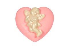 Corazón rosado. Fotos de archivo