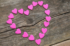 Corazón rosado Imágenes de archivo libres de regalías