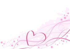 Corazón rosado artístico Foto de archivo libre de regalías