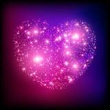Corazón rosado brillante de la chispa. Fotografía de archivo libre de regalías