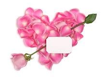 Corazón rosado con la flecha Foto de archivo libre de regalías