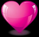 Corazón rosado de cristal stock de ilustración