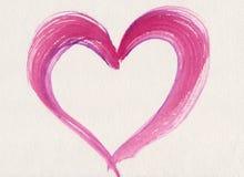 Corazón rosado de la tarjeta del día de San Valentín fotografía de archivo libre de regalías