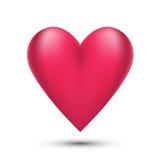 Corazón rosado de la tarjeta del día de San Valentín Imagen de archivo