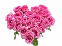 Corazón rosado de las rosas Fotografía de archivo libre de regalías