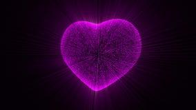 Corazón rosado de pulsación ilustración del vector