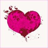 Corazón floral Fotos de archivo