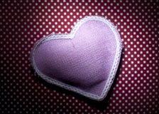Corazón rosado del acerico Foto de archivo libre de regalías