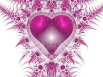 Corazón rosado del dragón, motivo del día de Valantine Foto de archivo libre de regalías