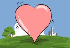 Corazón rosado encantador Imagen de archivo libre de regalías