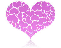 Corazón rosado grande Fotos de archivo