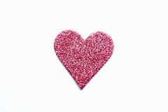 Corazón rosado izolated Fotografía de archivo
