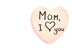 Corazón rosado para la madre Foto de archivo