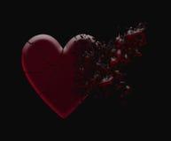 Corazón roto foto de archivo